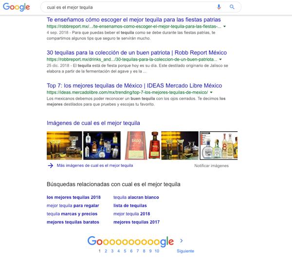 aparecer en los resultados cero de google