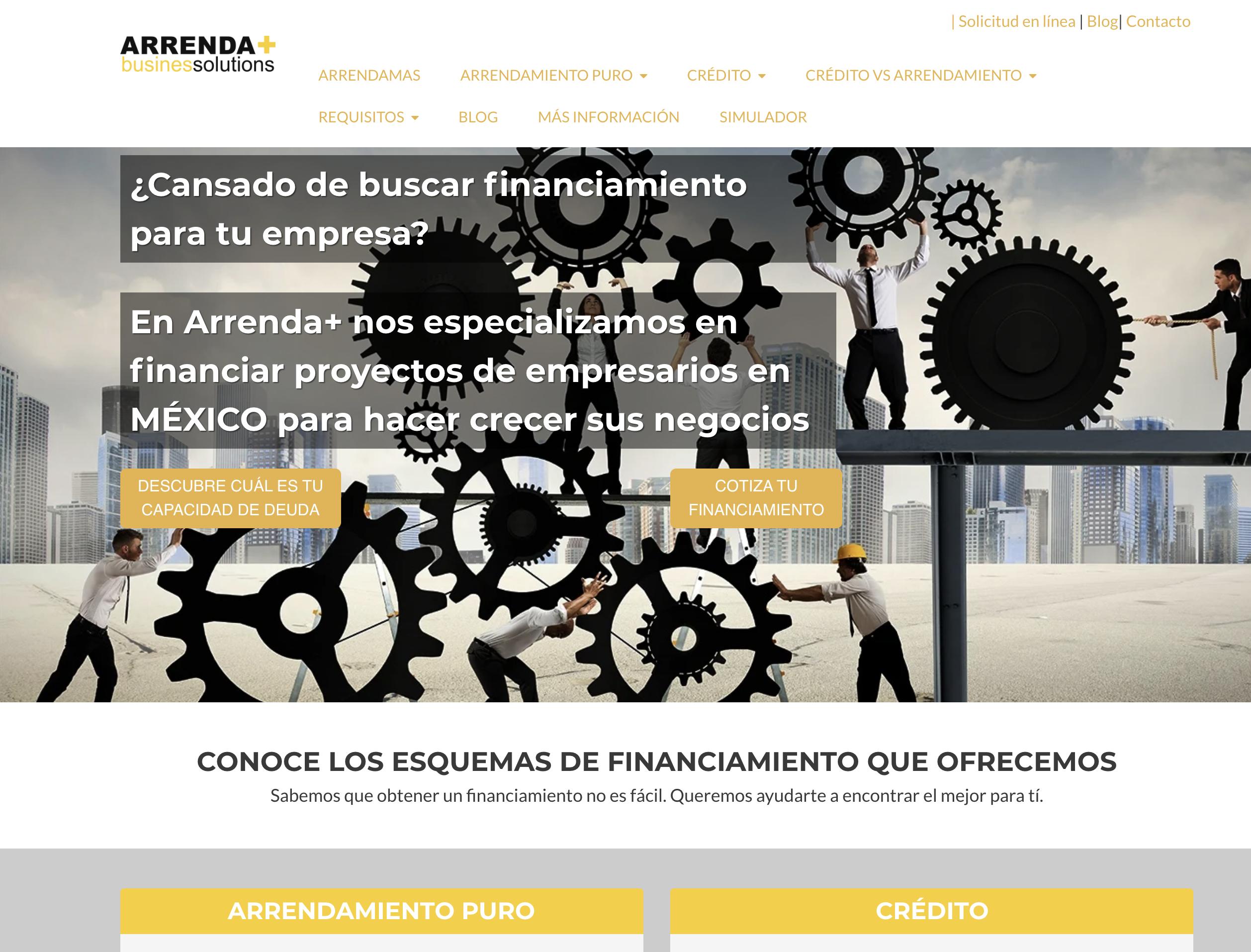 Arrenda+ website